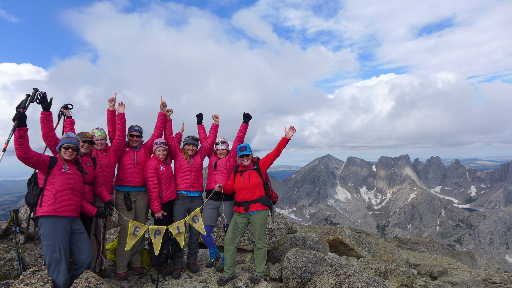 My Epic Women group, atop Mitchell Peak, in 2014.
