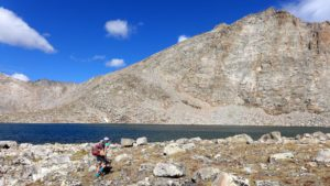 Hiking alone near Saddlebag Lake, in Wind River Country. (Photo by Scott Copeland)