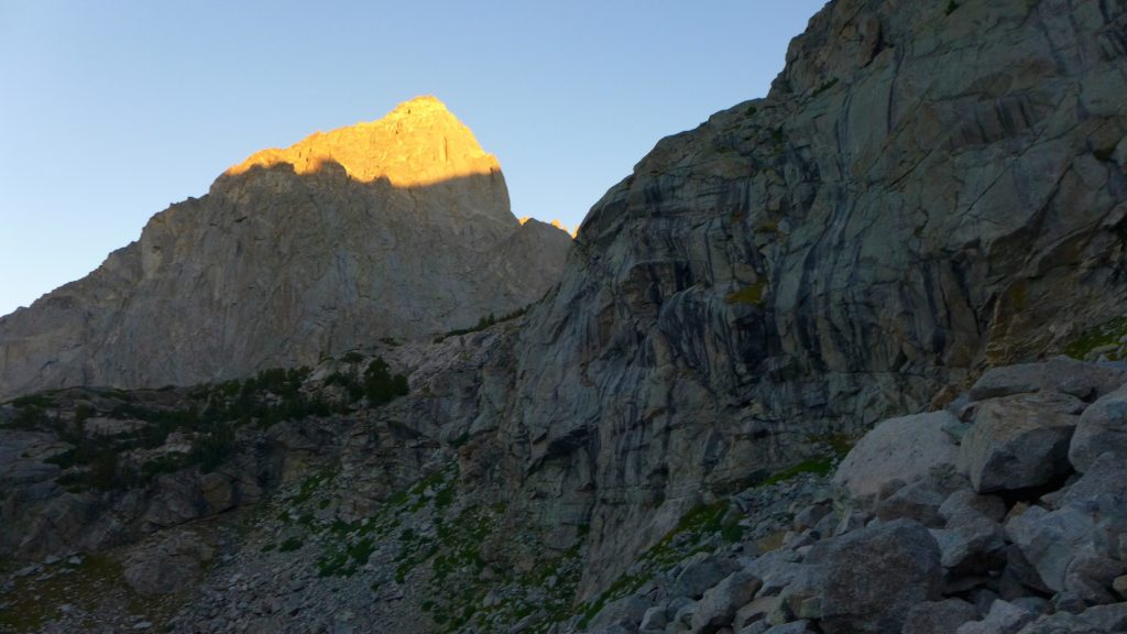 Alpenglow on Warbonnet.